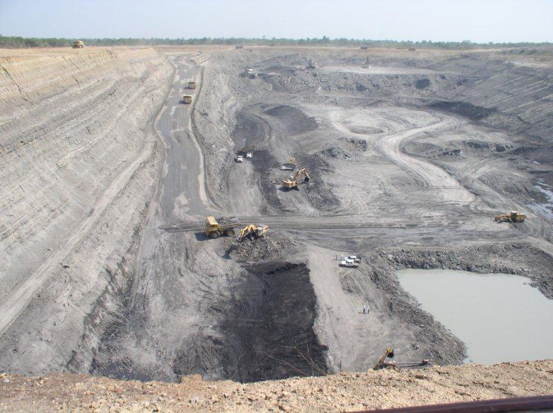 Mining in a Surface Mine