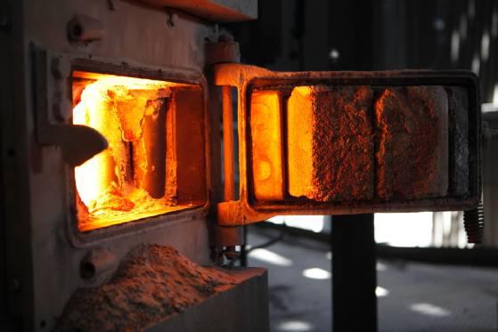 שריפת פחם - מבט לתנור